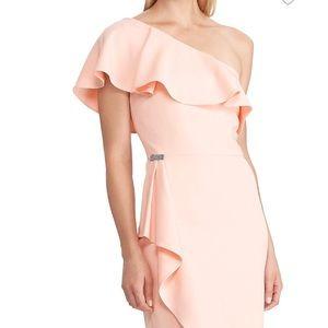 Lauren Ralph Lauren One-Shoulder Gown